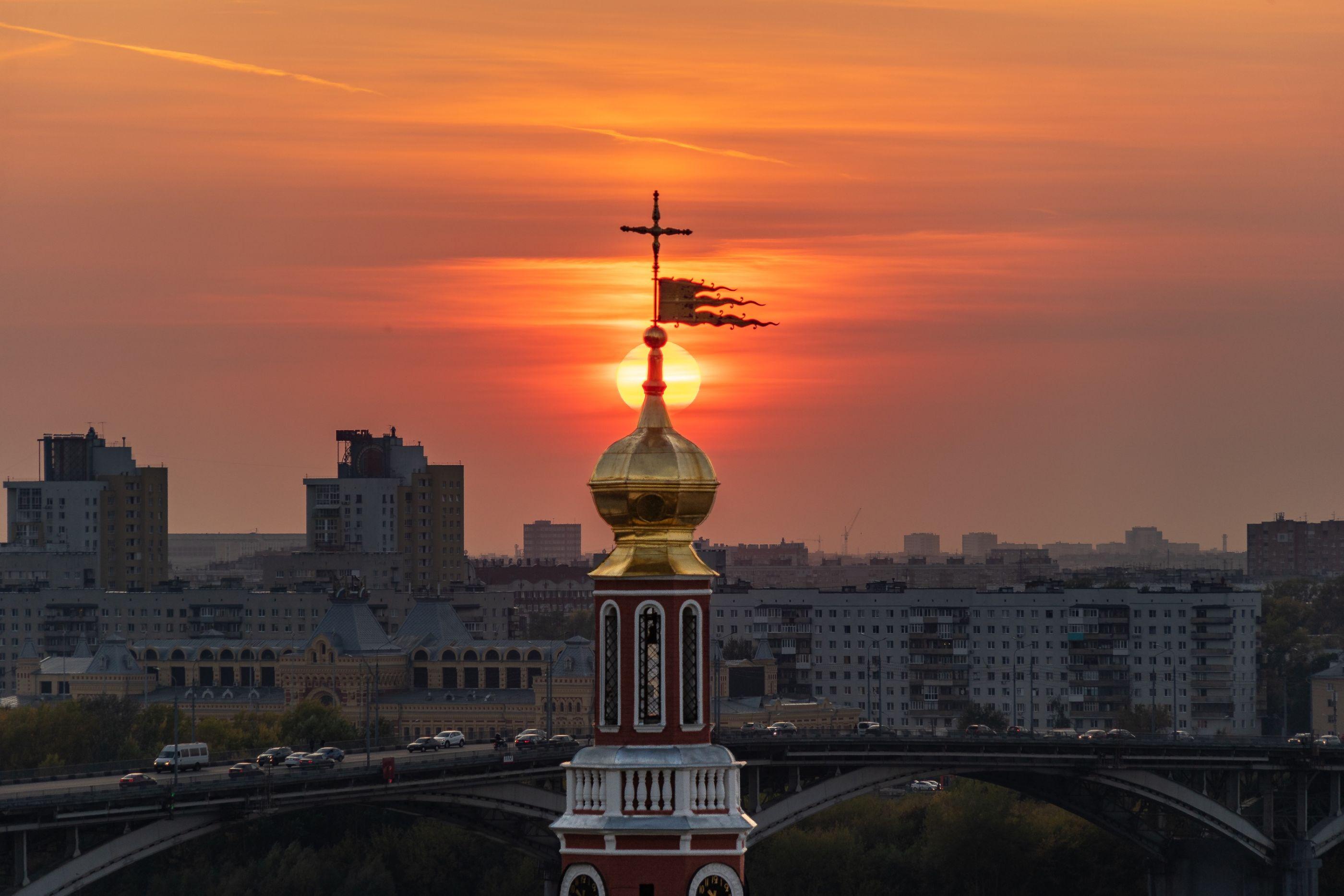 Sunset in Nizhniy Novgorod